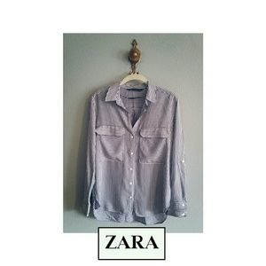 Zara Button Up Top
